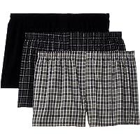 Hanes Men's 3-Pack Woven Boxers-Big Sizes