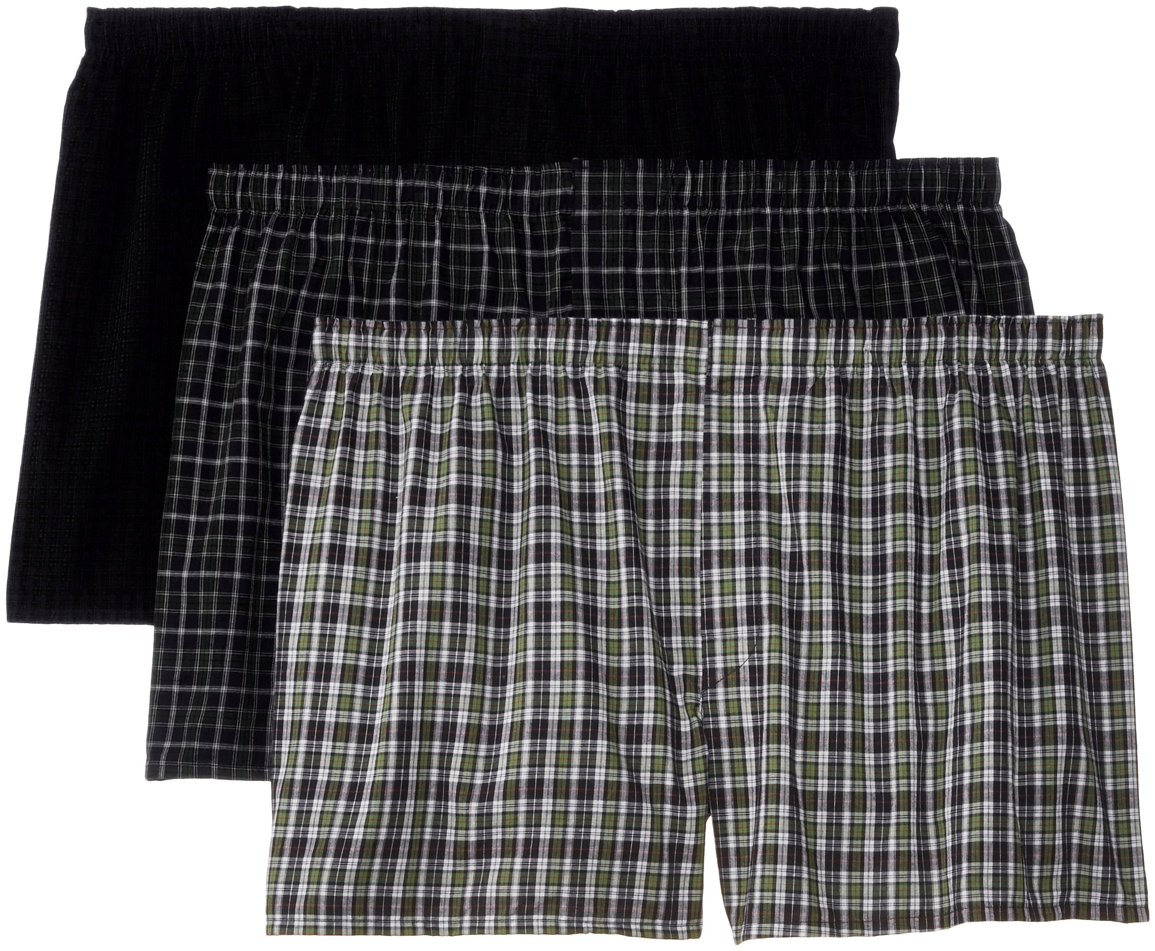Hanes Men's 3-Pack Woven Boxers-Big Sizes, Assorted, 4X-Large by Hanes