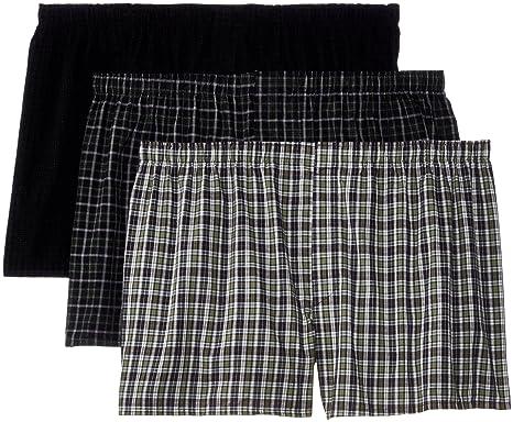 edcd5206b44e Hanes Men's Big Woven Boxers (Pack of 3) at Amazon Men's Clothing store: