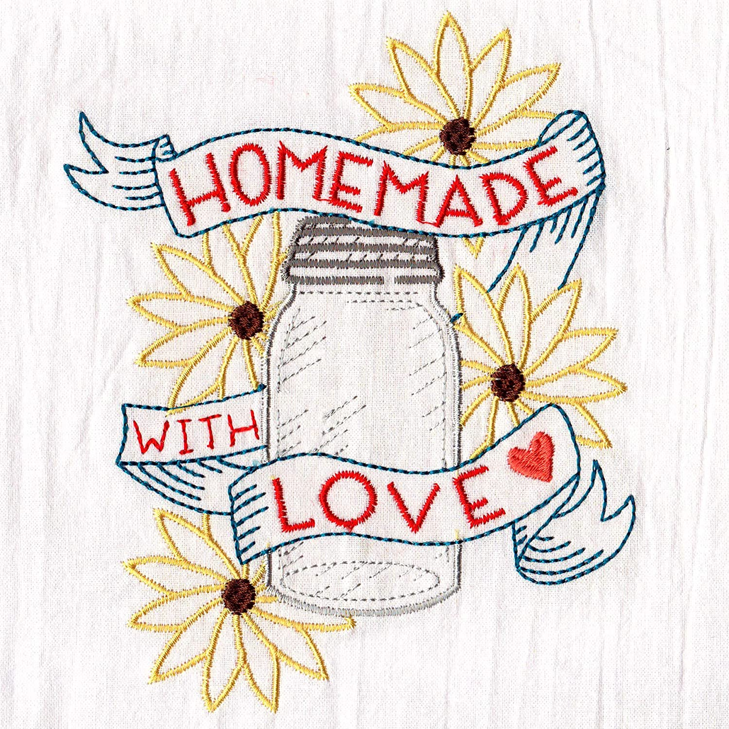 Aunt Martha's Dirty Laundry Homemade with Love Embroidered Flour Sack Dish Towel