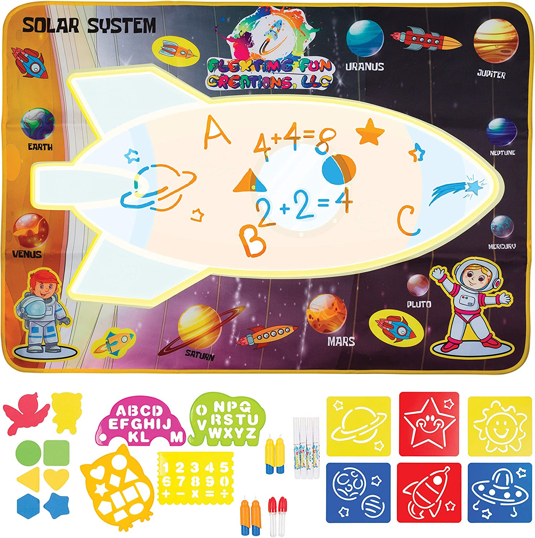 Massive 100cm x 70cm Magic Mat /Éducatifs Jouet Cadeaux danniversaire pour Gar/çons Fille Bambins Rangebow/® Aqua Water Doodle Mat