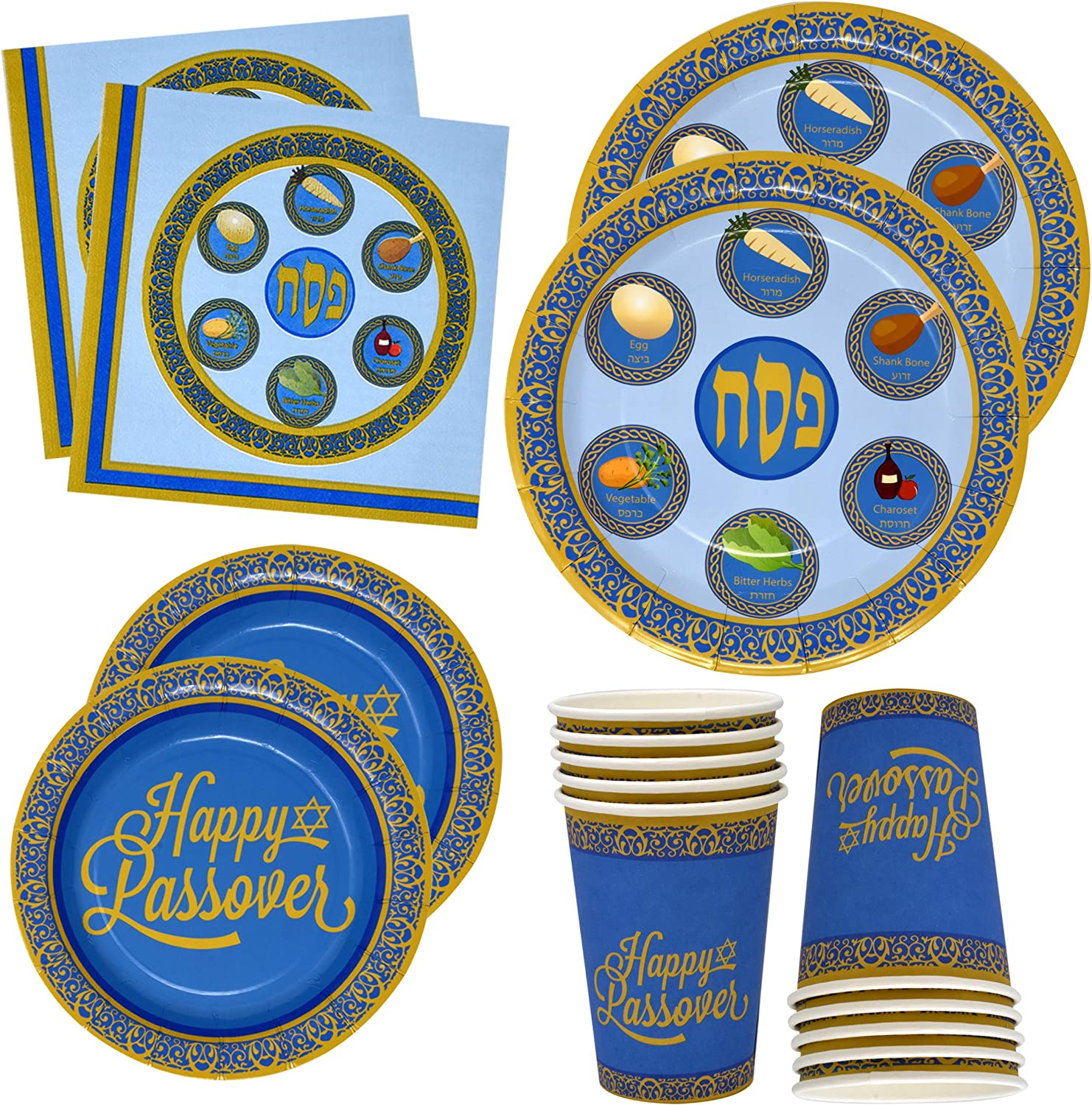 Gift Boutique Disposable Passover Paper Tableware Set