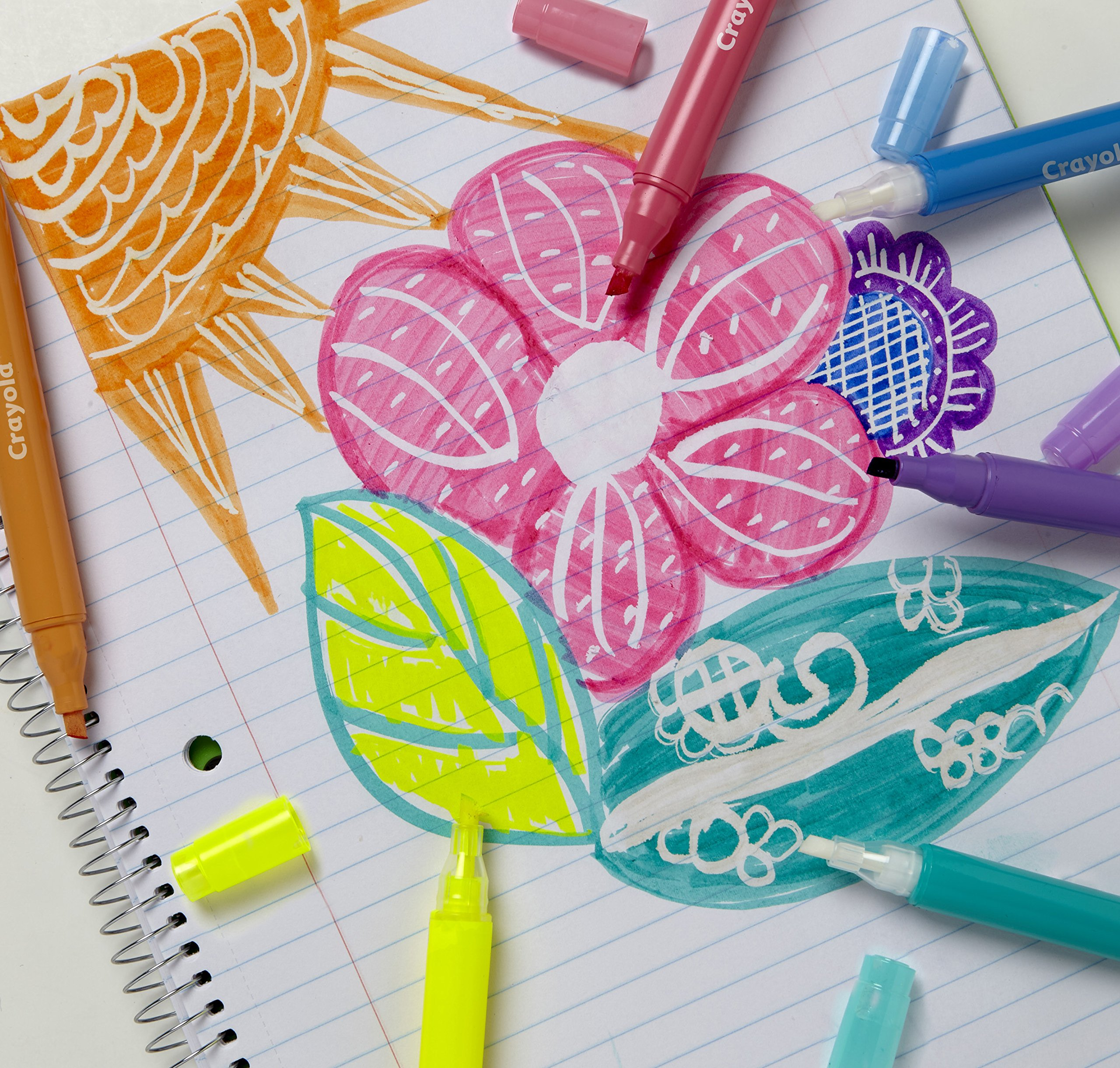 Crayola Take Note! Erasable Highlighters, Bullet Journal & School Supplies, 18Count, Gift by Crayola (Image #8)
