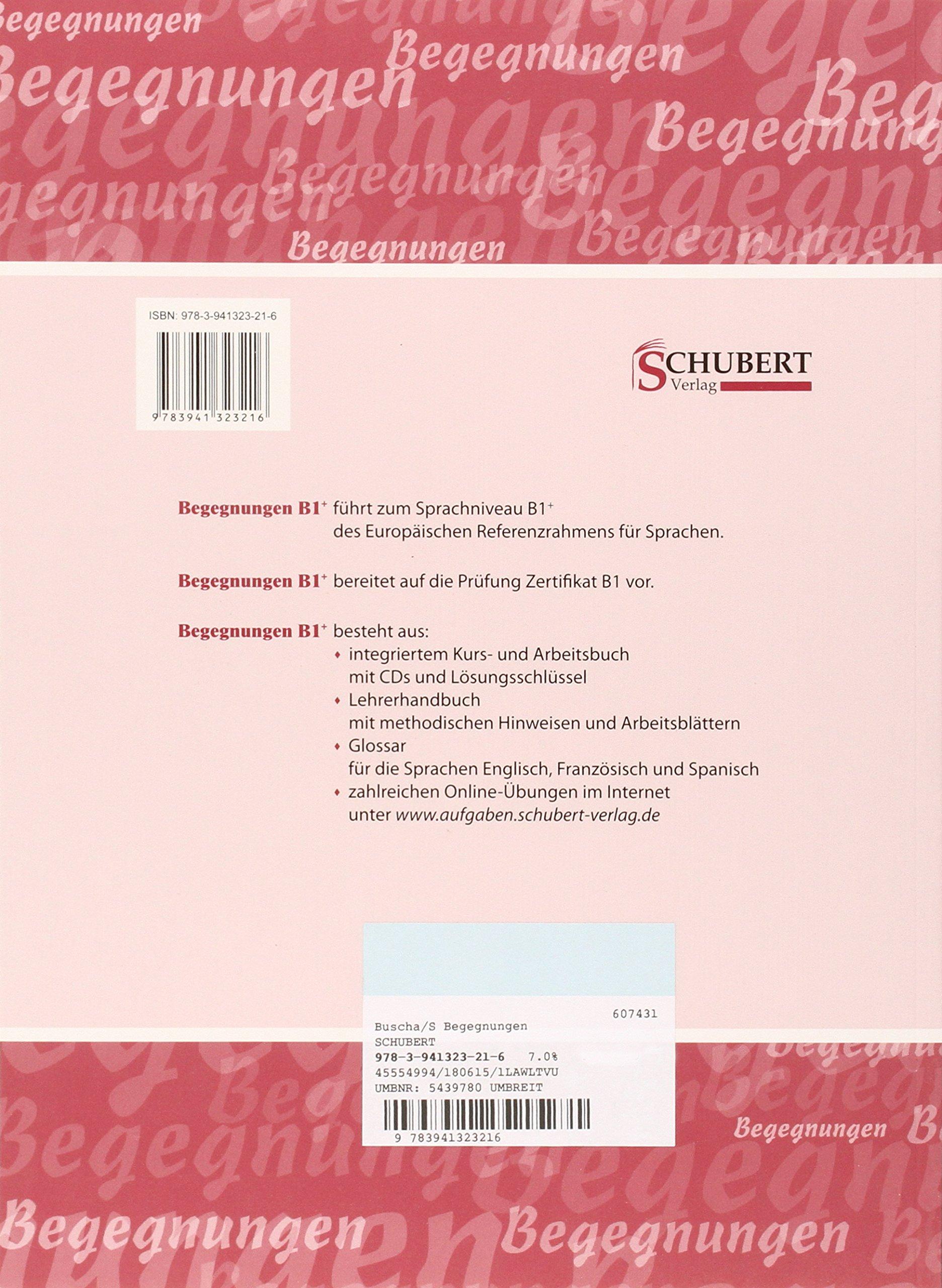 Begegnungen: Lehrerhandbuch B1+: Thomas Mann: 9783941323216: Amazon ...