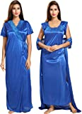Noty Women's Satin Nighty - 2 Pc- Nighty with Robe