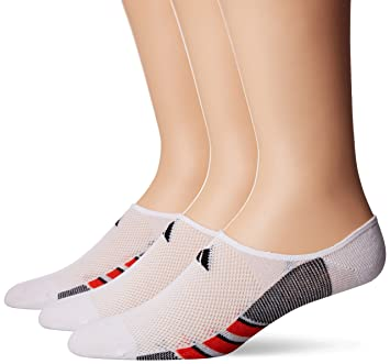 adidas Hombre Superlite Super No Show calcetines (3 Pack), hombre, color White/Energy Red/Black, tamaño Large: Amazon.es: Deportes y aire libre