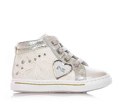 NERO GIARDINI - Baskets beiges à lacets, en cuir, glissière latérale, fille,filles,enfant,femme-30