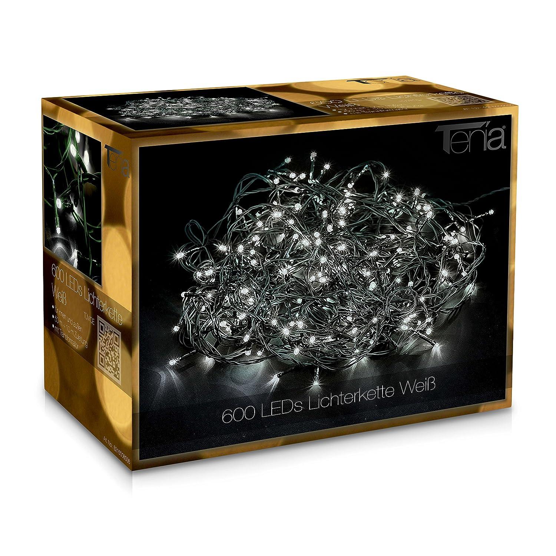 LED Lichterkette kaltwei/ß f/ür au/ßen und innen Au/ßenbeleuchtung Weihnachtsbeleuchtung 30m - 1500LED