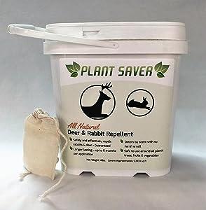 Plant Saver All Natural Deer & Rabbit Repellent, 4 lb. Tub, 20 refillable bags