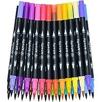 25 Dual Tip Brush Pens Color Fineliner Pennen voor het tekenen van kleurboeken en schetsen