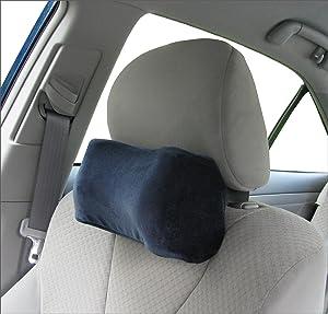 TravelMate Car Neck Pillow (Soft Version)- Neck Pillow; Car Pillow; Memory Foam Neck Pillow; Neck Rest Pillow; Car Neck Pillow (Color: Blue)