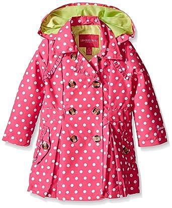 023814ae331b Amazon.com  London Fog Girls Lightweight Polka Dot Trench Coat  Clothing