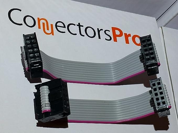 Strain Relief 280-10 100pc 2x5P 2x5 10P 2.54x2.54mm IDC Cable Plug Connector