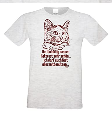 Geschenk für Katzenfreunde :-: Motiv T-Shirt Katzen :-: Die Wohnung meiner  Katze :-: Geschenkidee für Tier-Freunde zum Geburtstag Vatertag Weihnachten  ...
