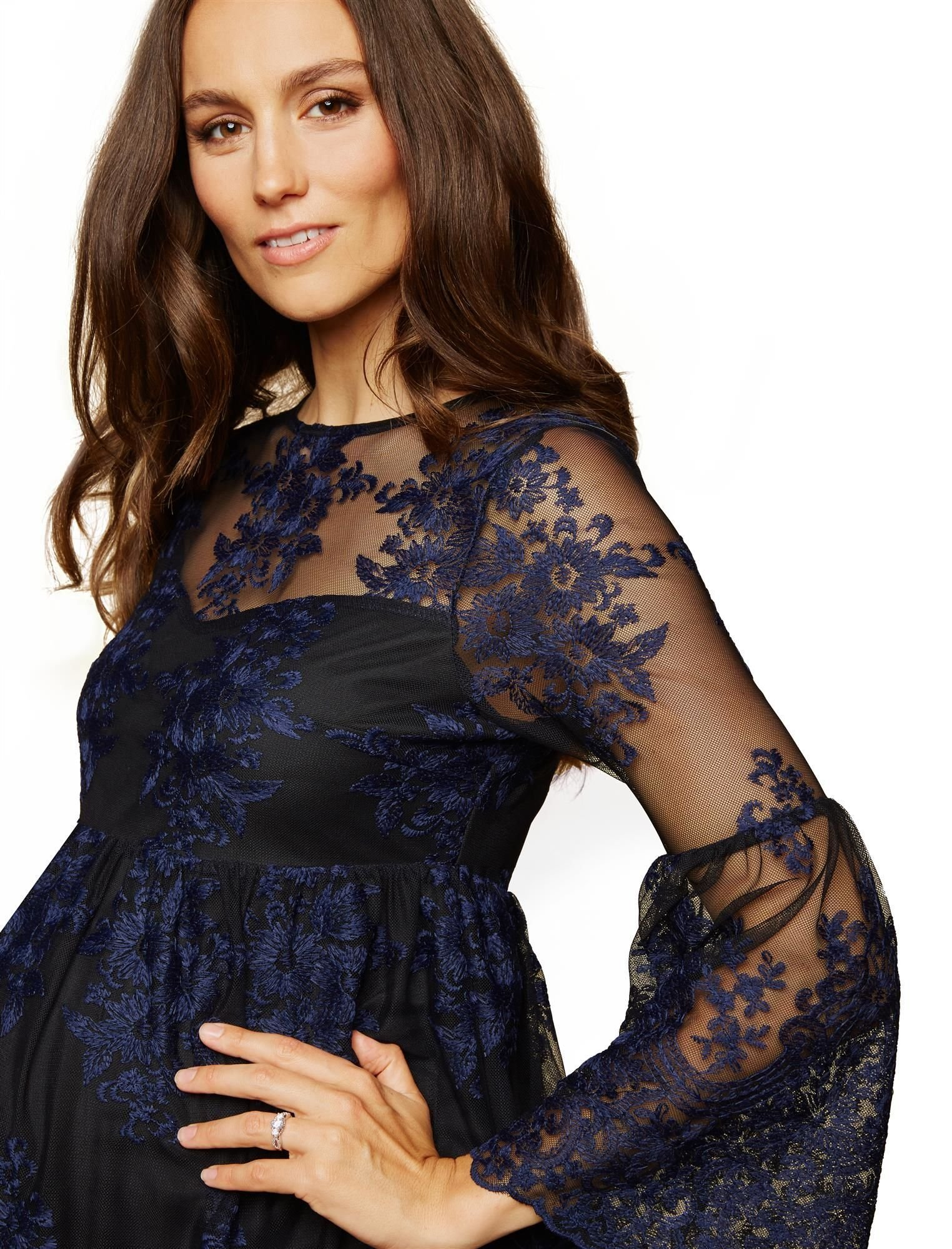 Motherhood Fit and Flare Maternity Dress
