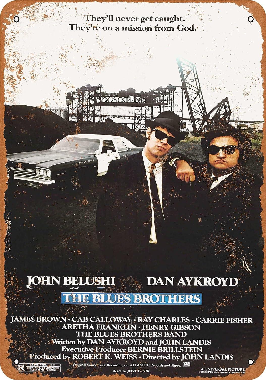 1980 The Blues Brothers Reproduction Metal Sign Pancarte en m/étal Vintage