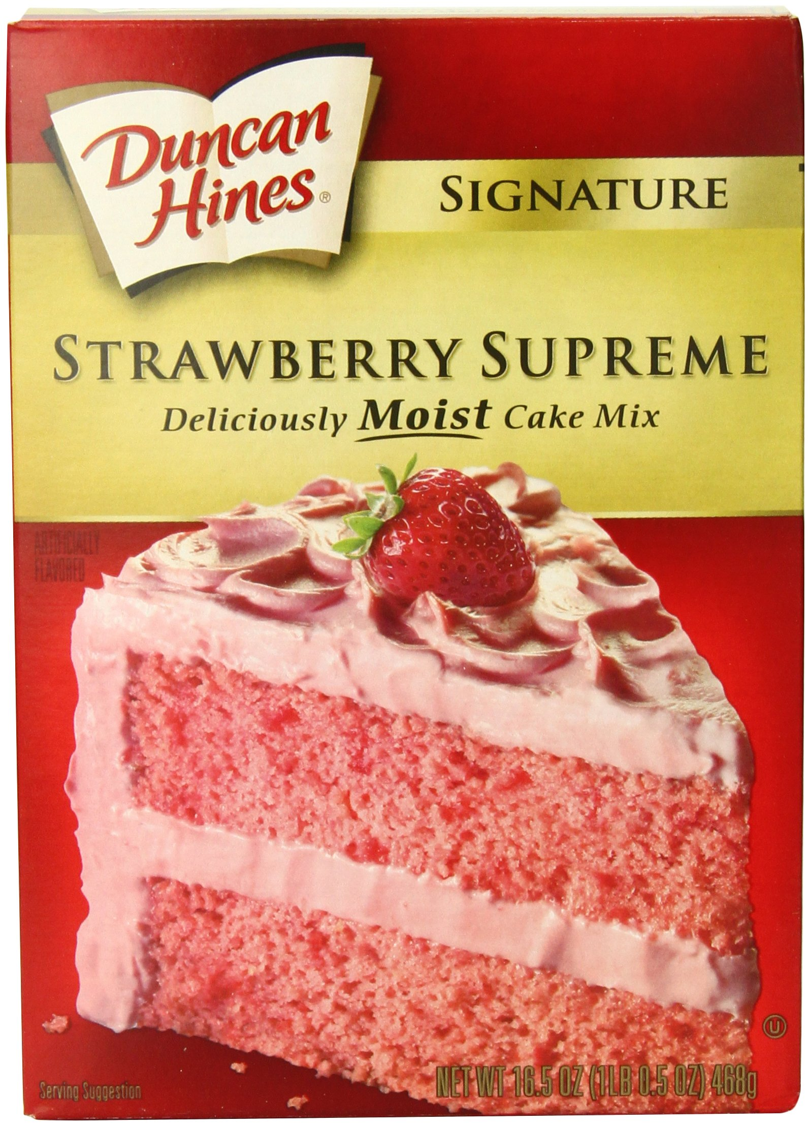 Duncan Hines Signature Strawberry Cake Mix, 16.5-Ounce Boxes (Pack of 6)