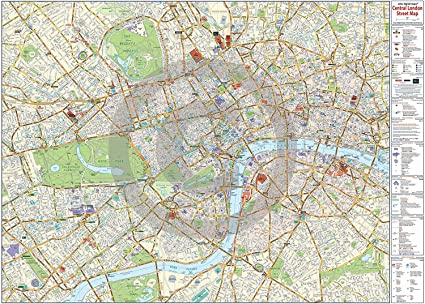 Amazon.com: Central London Map - Maxi LAMINATED/ENCAPSULATED Poster on