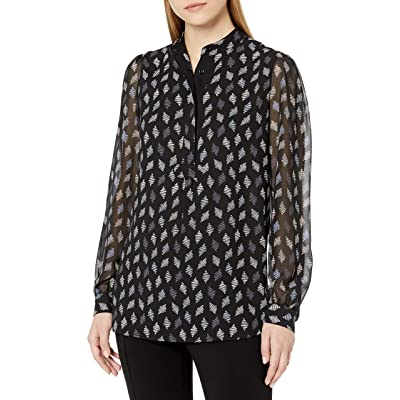 Anne Klein Women's Long Sleeve Tunic Blouse at Women's Clothing store