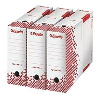 Esselte Speedbox - Lot de 25 Boites Archives Dos Automatiques 100mm - Blanc