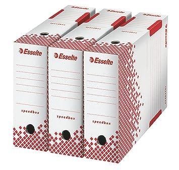Esselte 623908 - Paquete de 25 archivadores sin anillas, blanco: Amazon.es: Oficina y papelería