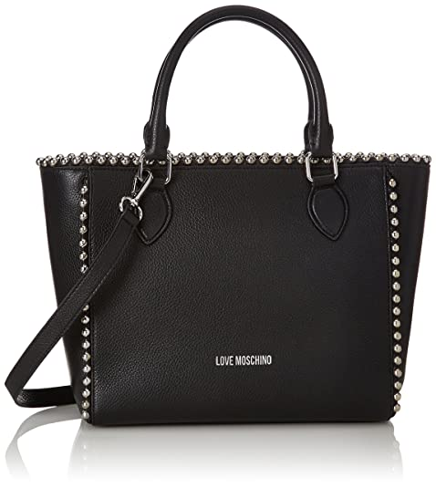 Love Moschino Borsa Vitello Pebble Nero - Borse a spalla Donna ... d4b40defae5