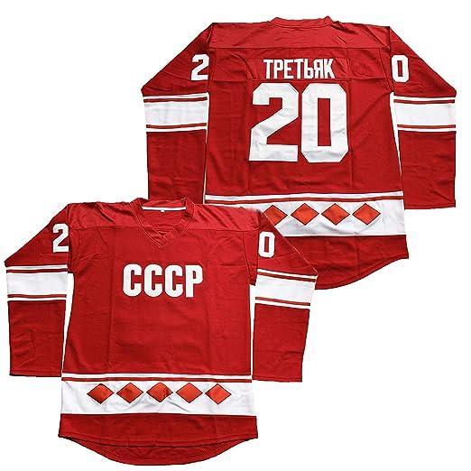 Amazon.com  Vladislav Tretiak  20 CCCP 1980 USSR CCCP Russian Hockey ... 75e7814e9