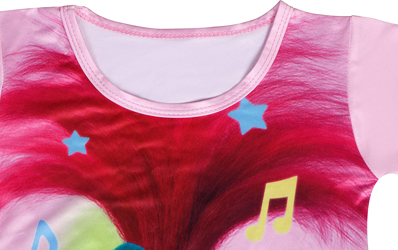 Y2M Camicia da Notte da Principessa Poppy Girls Camicia da Notte Camicie da Notte Pigiami per Bambini Vestaglia da Notte