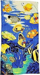 Toalla Ilkadim, de playa, 70 x 140 cm, de manos, para niños y adultos, de 100 % algodón, 100 % algodón, Blau Gelb…