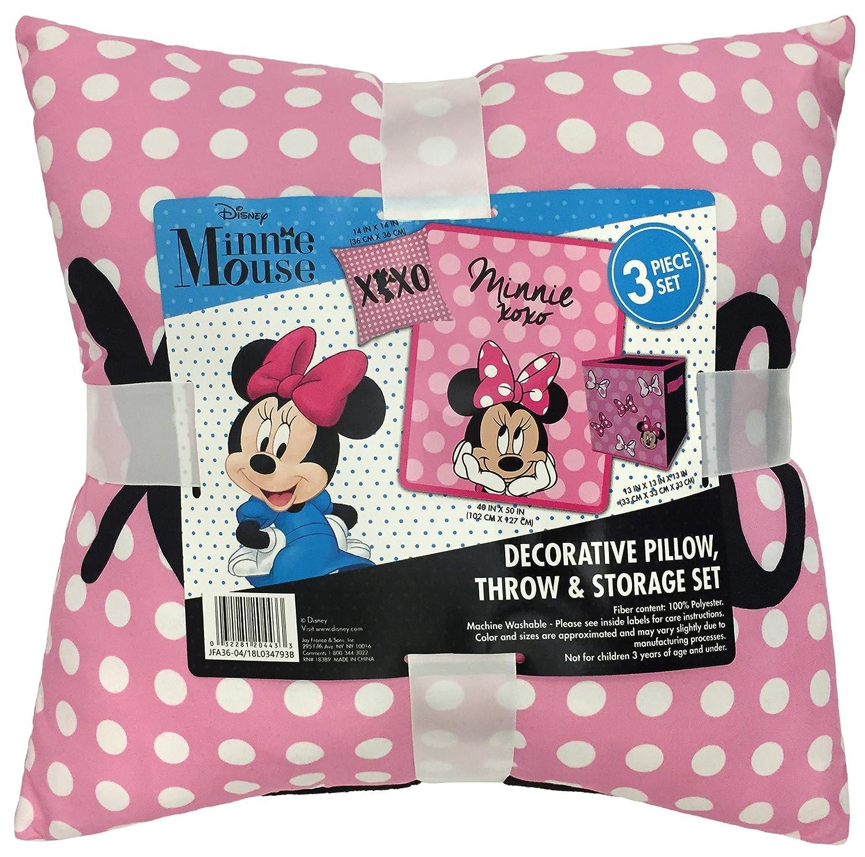 Beau ... Jay Franco Disney Minnie Mouse XOXO Kids 3 Piece Plush Throw, Pillow U0026  Collapsible Storage