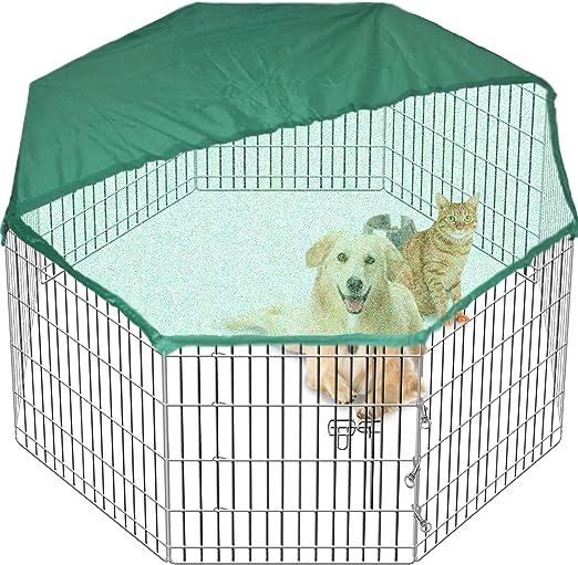 Gran Playpen Jaula de Jardín para Perros y Cachorros, Servicio pesado, 7 kg, 61 cm Tall, Desplegable, Interiores, Exteriores, Cubierta gratis, 8 Vallas: Amazon.es: Productos para mascotas
