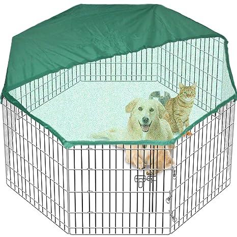 Gran Playpen Jaula de Jardín para perros y cachorros desplegable para interiores/exteriores