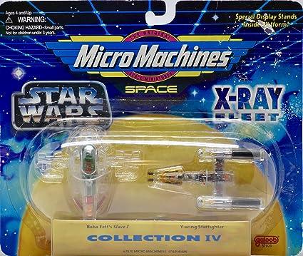 amazon com star wars 4 micro machines x ray fleet collection iv