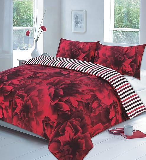 romantique Rose rouge Housse de couette romantique - Housse de ...