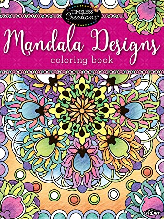 cra z art timeless creations adult coloring books mandala creative coloring book