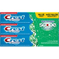 3-Pack Crest Complete Whitening Plus Scope Toothpaste