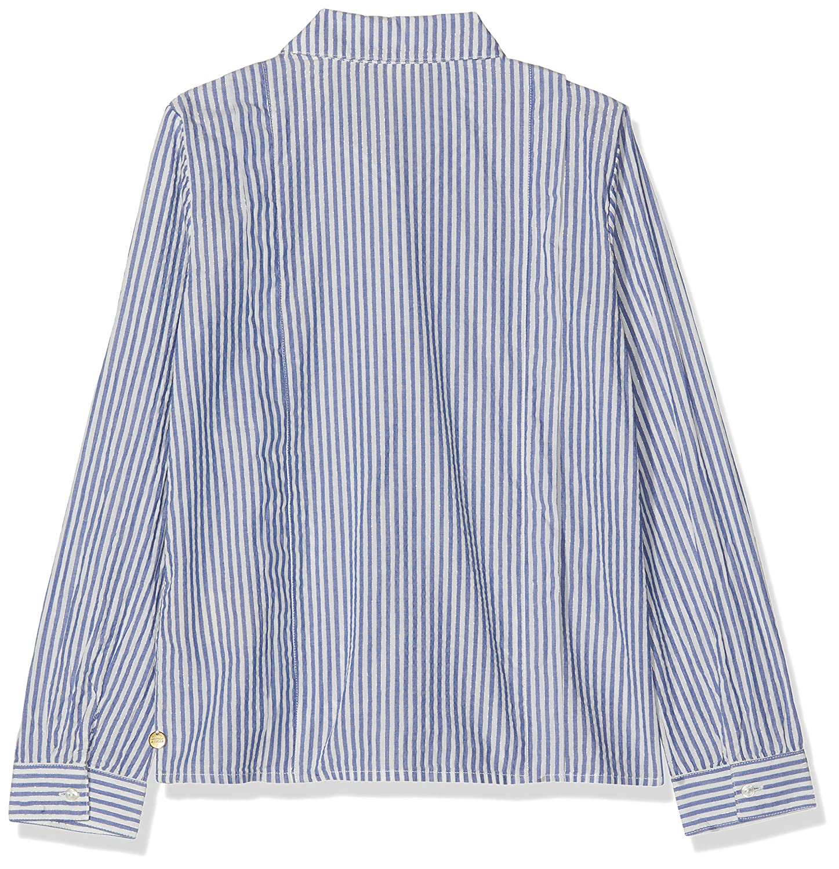 Scotch /& Soda Girls Regular Fit Shirt in Yarn Dyed Lurex Stripe Long Sleeve Top