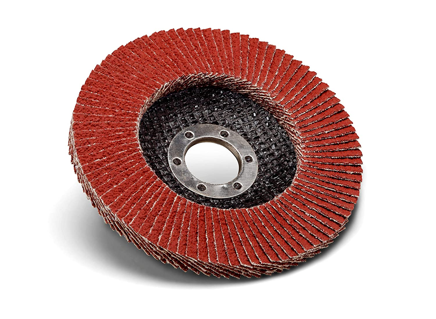 10 per case 4-1//2 in x 7//8 80 Y-Weight Standard Abrasives Ceramic Pro Type 27 Flap Disc 645111
