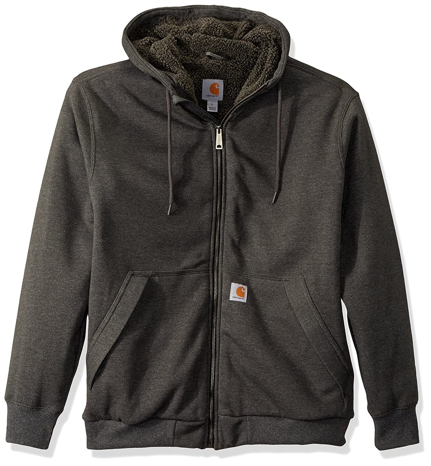 Carhartt Men's Rain Defender Rockland Sherpa Lined Hooded Sweatshirt 103308
