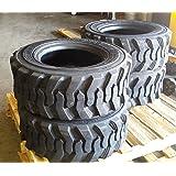 Set of Four (4) 10-16.5 Skid Steer Loader Tire, 10 PLY, NHS