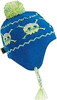 Turtle Fur Kids Skull Crazy, Boys Fleece Lined Knit Crossbones Earflap Hat