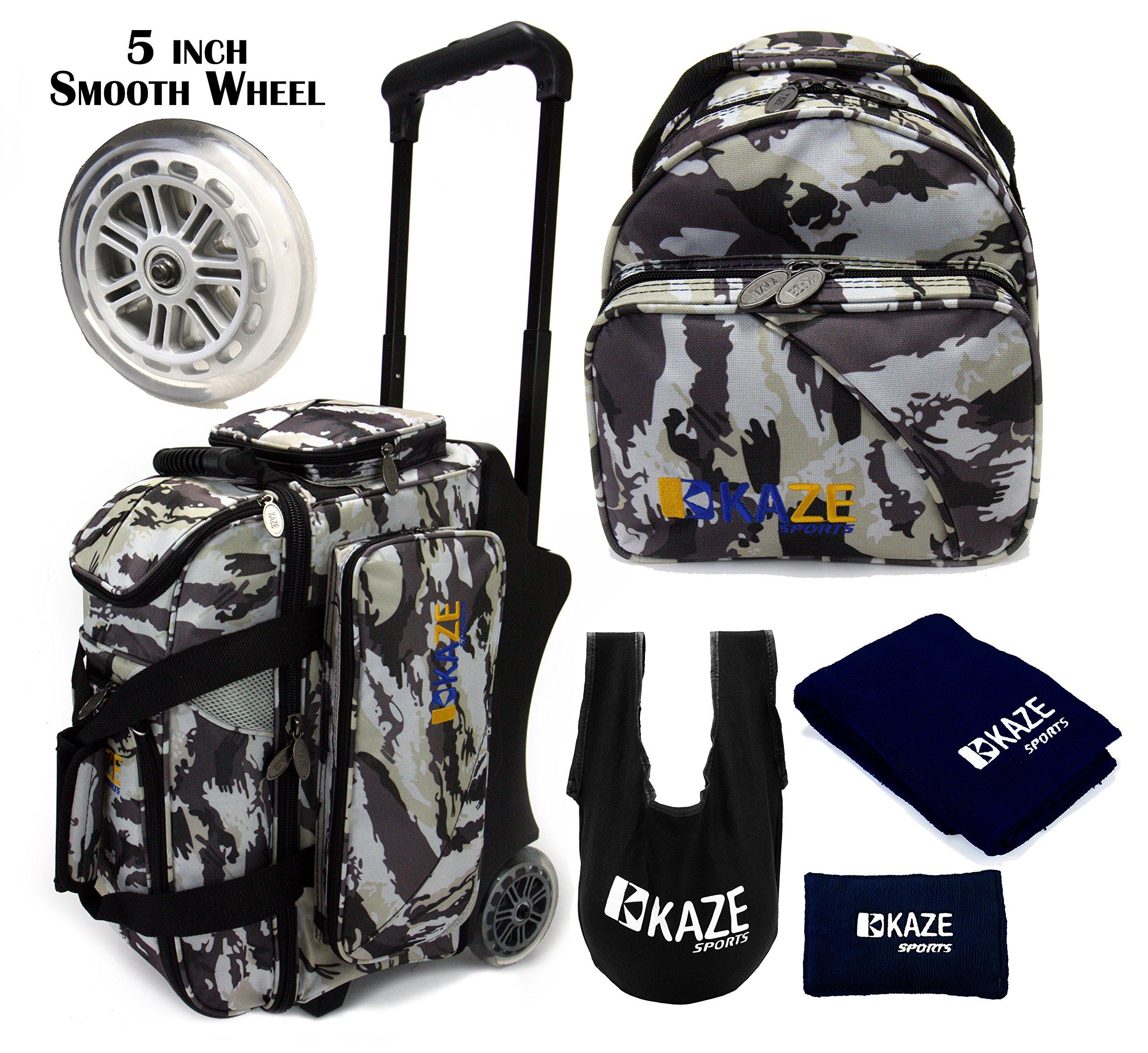 KAZE SPORTS 2 Ball Bowling Roller (White Camo Package) by KAZE SPORTS