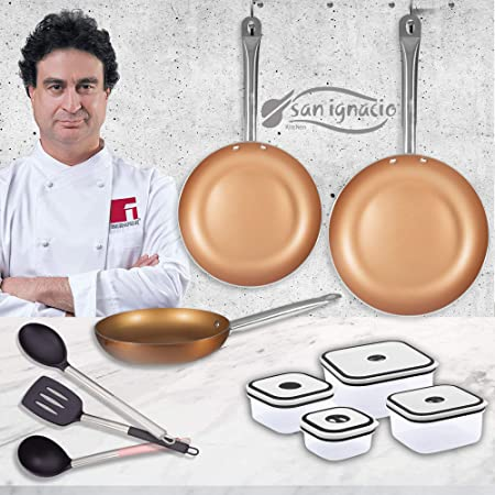 San Ignacio Professional Chef Copper Plus Set 3 sartenes + 4 ...