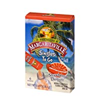 Margaritaville Singles To Go Water Drink Mix - Strawberry Daiquiri Flavored, Non-Alcoholic Powder Sticks (12 Boxes with 6 Packets Each - 72 Total Servings)
