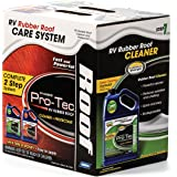 Camco  Pro-Tec RV Rubber Roof Care System - Two Step Treatment  Rids Dirt and Grime and Reduces Roof Chalking | Extends the Life of RV & Trailer Rubber Roofs - 2 Gallons (41453)