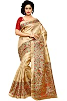 Applecreation Khadi Silk Saree (Mdb8404-C_Beige)