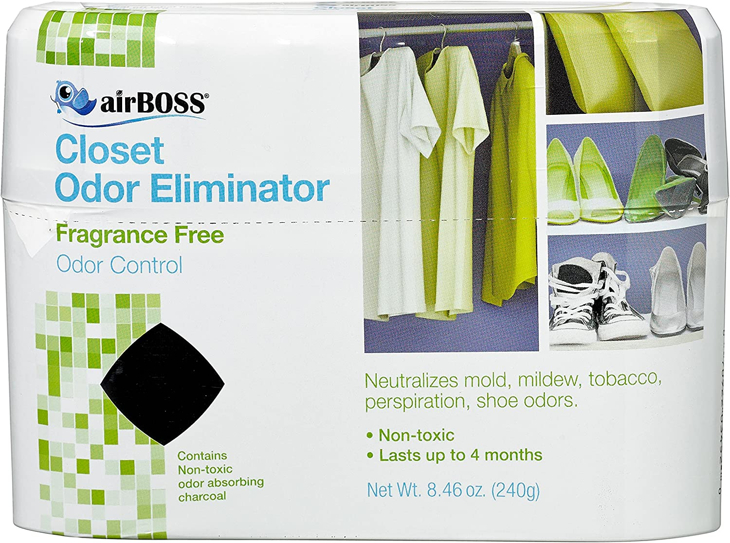 Willert AirBoss Keep It Dry Activated Charcoal Closet Deodorizer - 8.46 oz: Health & Personal Care