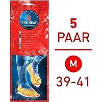 THE HEAT COMPANY Sohlenwärmer - 8 Stunden Wärmedauer Wärmesohle Fußwärmer Schuhheizung Fußheizung, MEDIUM: Grösse 39-41; 5 Paar