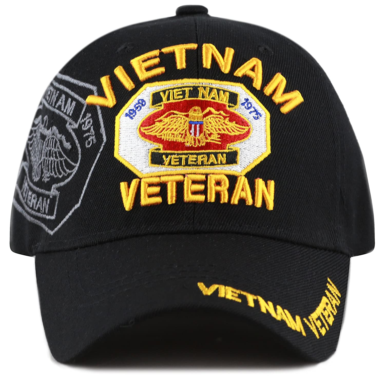 4ff381b60 The Hat Depot Official Licensed U.S. Military Vietnam Veteran Ribbon Cap