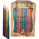 Ner Mitzvah Beeswax Chanukah Candles - Standard Size Candle Fits Most Menorahs - Premium Quality Pure Bees Wax…
